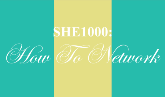 SHE1000: How to Network