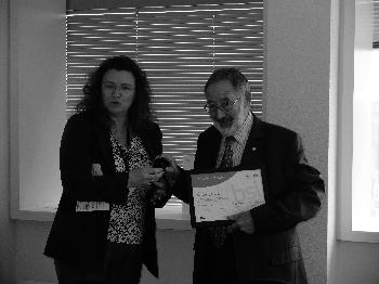 Bernard Laluvien receiving his award at BSI