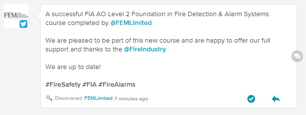 fire detection & alarm qualifications feedback
