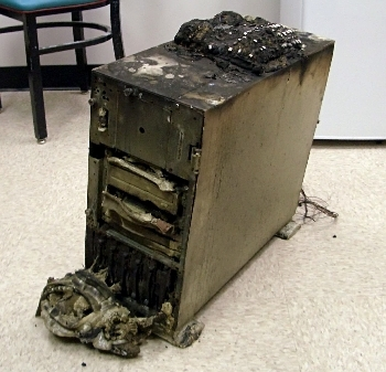 burnt out PC