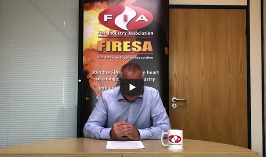 FIRESA Council Chairman Bernie Higgins addresses the National Fire Chiefs Council