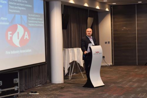 Martin Duggan presents at FIM Expo