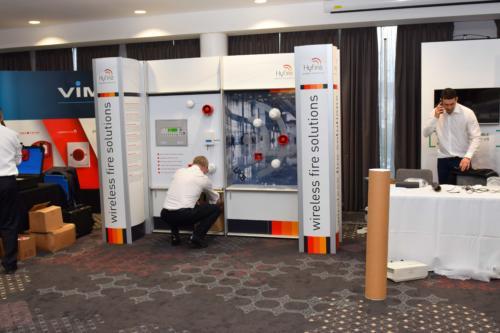 FIM Expo exhibitors get set up