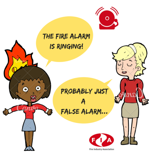 The fire alarm is ringing! Probably just a false alarm...