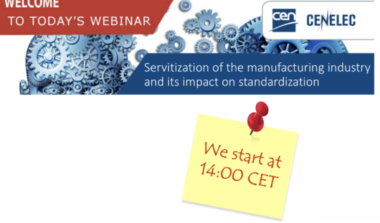 Servitization of the manufacturing industry and its impact on standardization